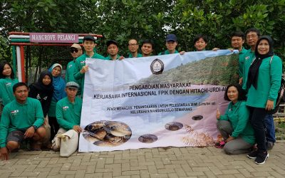 Kerjasama Internasional Pengabdian Masyarakat Penanaman Mangrove  Dan Pengembangan Batik Pigmen Mangrove Di Kelurahan Mangunharjo Semarang